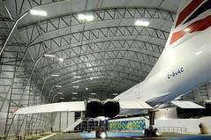 Concorde Alpha Charlie at Manchester Eco Hangar 9