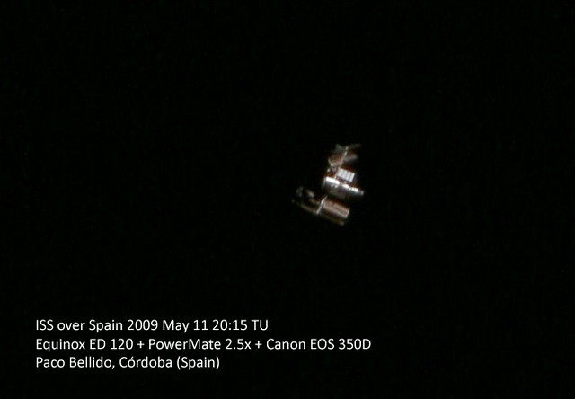 The International Space Station through my telescope ...