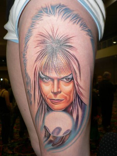 David bowie tattoo in progress flickr photo sharing for Bowie tattoo ideas