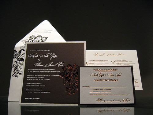 foil stamped wedding invitations dolce press With foil stamped wedding invitations canada