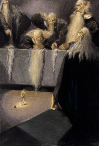 Álmos Jaschik (Hungary, 1885 - 1950), The Accused