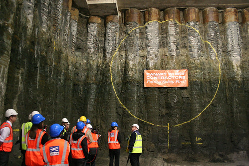Teaser - deep underground in the Crossrail Station at Canary Wharf