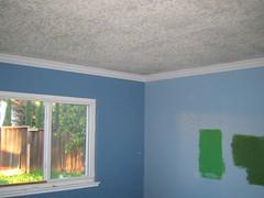 popcorn ceilings