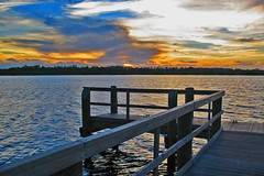 sunset at the dock