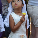 Little Guatemalan Girl Eating Ice Cream - Antigua, Guatemala