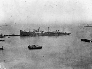 Troopships at Gallipoli, Turkey
