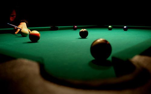 Pool Table Basics: Aiming a Bank Shot  
