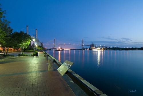 bridge vacation sunrise dawn d200 brickstreets savannahgeorgiausa 10millionphotos tokina1116mmf28