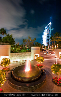 United Arab Emirates - Dubai - Burj Al Arab 7* Hotel at night