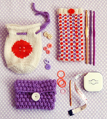 Whit's Knits:  Three Little Pouches