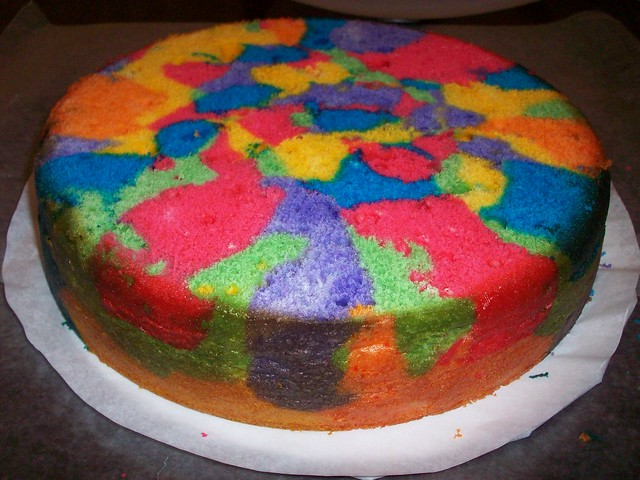how to make colored cake batter