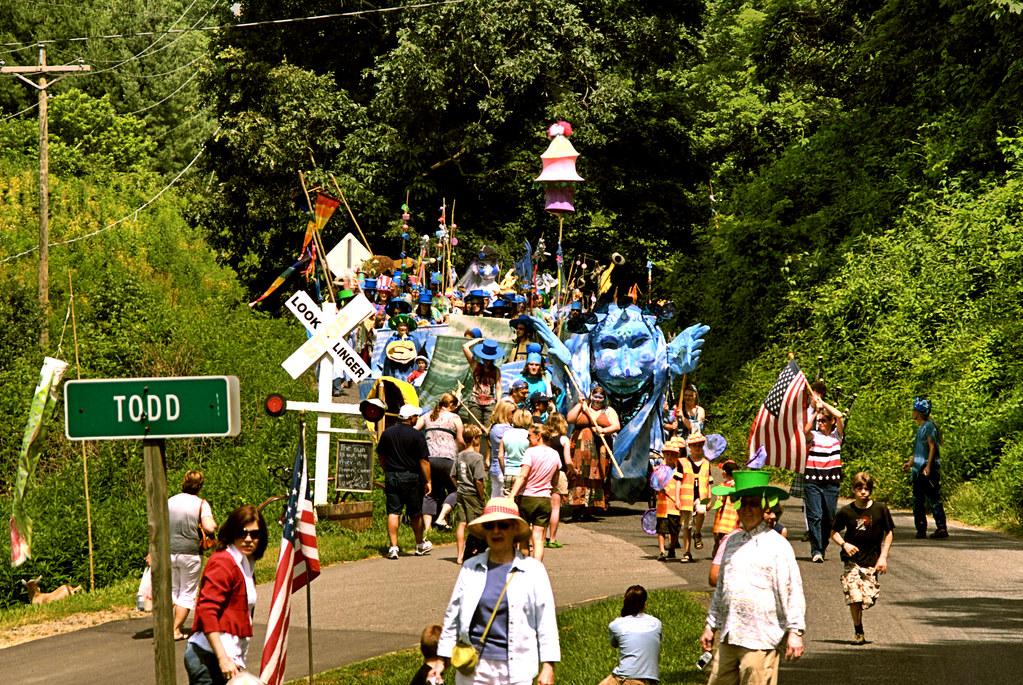 Liberty parade, Todd, NC.