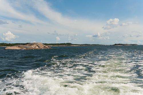 blue sea summer sky white water finland island nagu suomenlahti nauvo d700 2470mmf28g utterholmen
