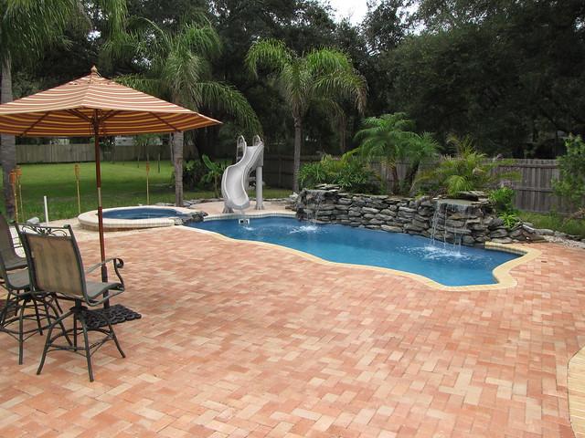 Key West Backyard Ideas : Key West 41a ~ Viking Pools ~ Free Form Design ~ Backyard Pool