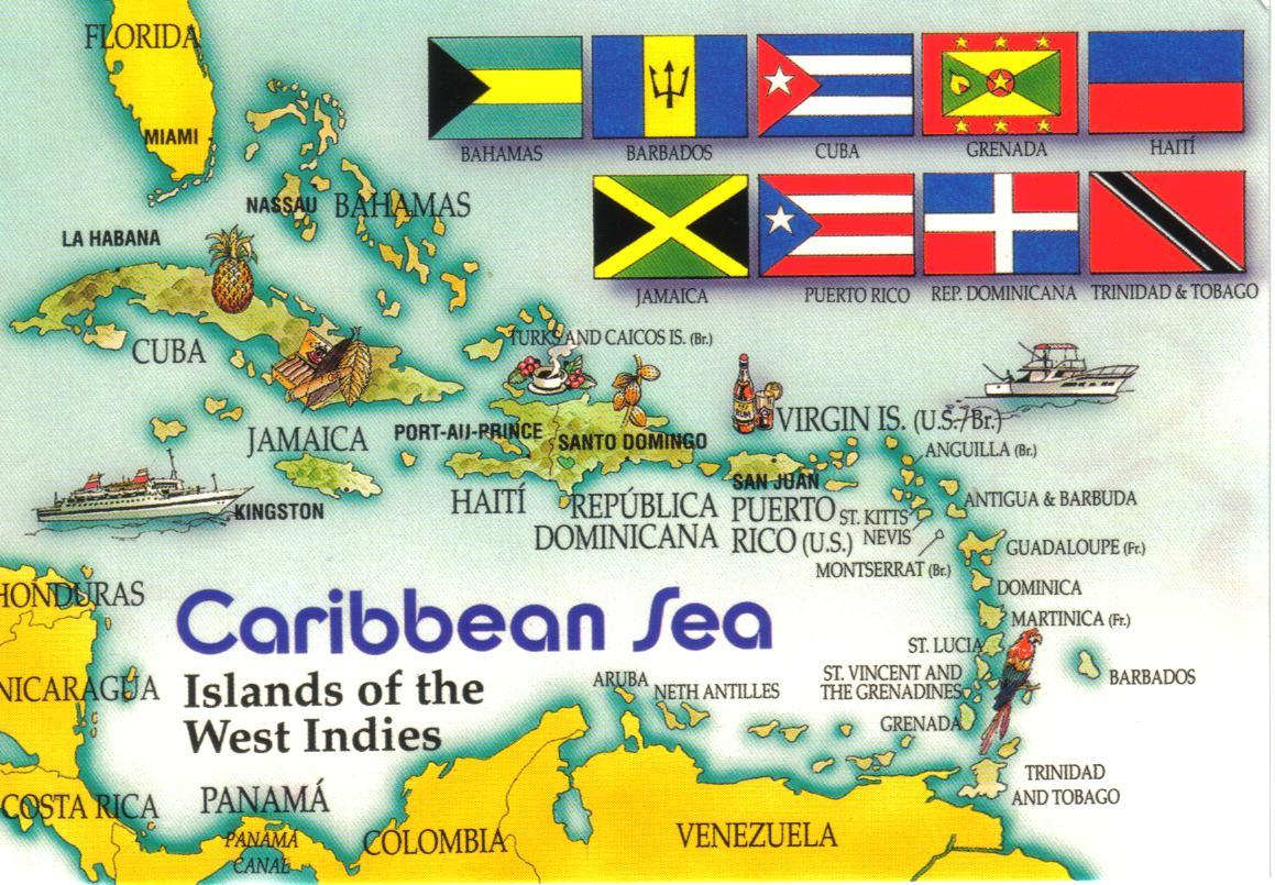 caribbean island postcard wallpaper - photo #10