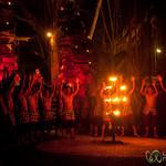 Performers Chant at Kecak Show - Ubud, Bali