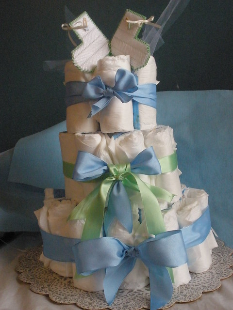 torta de pañales para baby shower | Flickr - Photo Sharing!