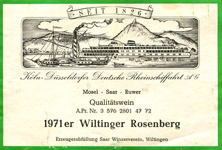 Wiltinger Rosenberg 1971 (Saar) on Rhine Cruise