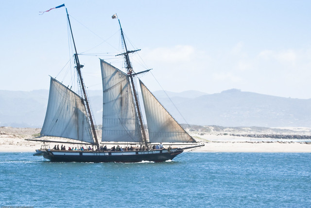 The sailing ship Lynx, exits Morro Bay 11 April 2009 on a tour by mikebaird, on Flickr