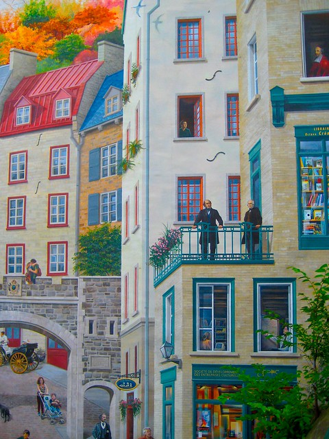Quebec city wall mural a photo on flickriver for Mural quebec city