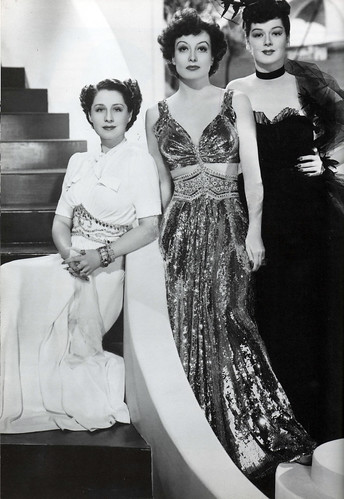 "Norma Shearer, Joan Crawford and Rosalind Russell in ""The Women"", 1939"