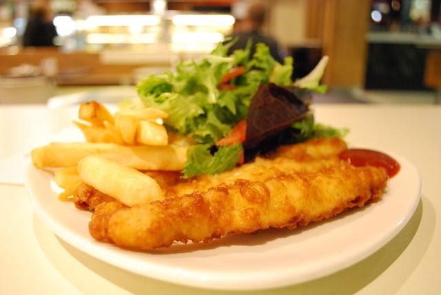 Fish, Chips, Salad - Hightide AUD9.50