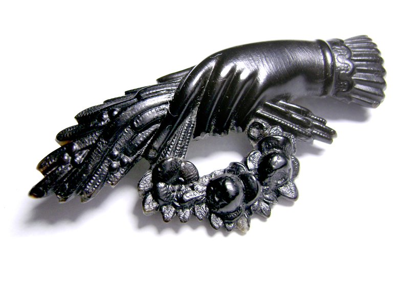Victorian Mourning Brooch, 19th century