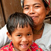 Smiling Marma Mother and Son - Bandarban, Bangladesh