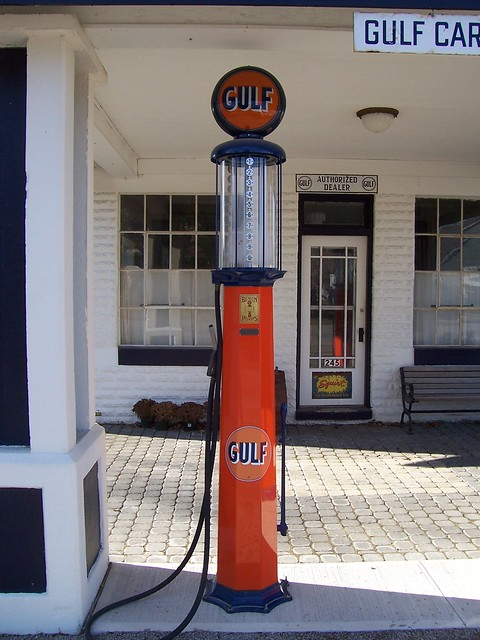 how to make a vintage gas pump