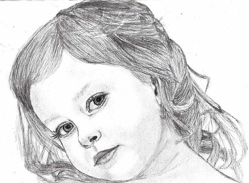 Pencil Drawing How To Draw A Girl Little Girl