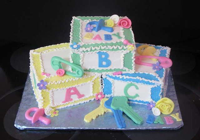 Baby blocks cake this was for a friend of mine s sister s