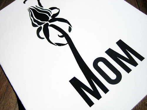 Mom Bud Printable Mother's Day Card