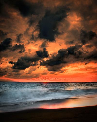 sunset sea sky texture beach water clouds reflections mexico atardecer mar agua long exposure waves playa nubes alfredo puertovallarta olas texturas reflejos treatment tratamiento cileo sekonic nikon1755mm28 nikod300