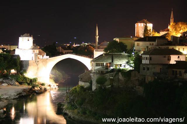 Fotografias de Mostar by night, Bósnia e Herzegovina