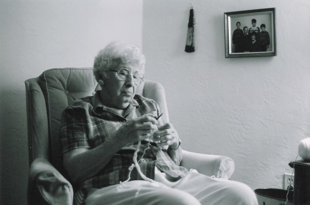 Grandma Knitting Spaghetti : Grandma knitting flickr photo sharing