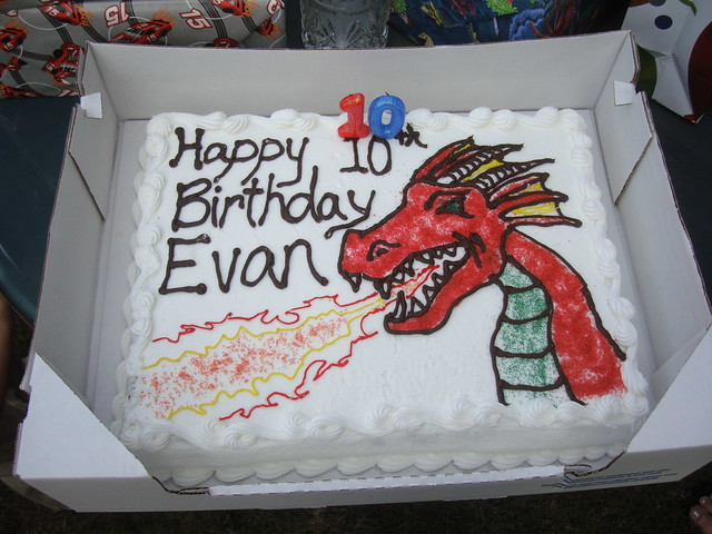 Evan's 10th Birthday Cake