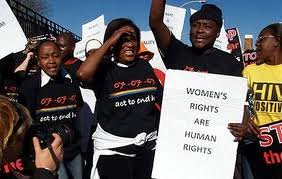 South Africans demonstrating against violence perpetuated on women. The murder of lesbians has been the subject of discussion and organizing in recent months. by Pan-African News Wire File Photos