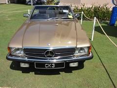 mercedes-benz(0.0), sports car(0.0), automobile(1.0), automotive exterior(1.0), vehicle(1.0), performance car(1.0), mercedes-benz r107 and c107(1.0), bumper(1.0), antique car(1.0), classic car(1.0), land vehicle(1.0), luxury vehicle(1.0),