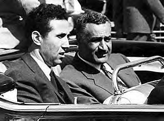 President Ahmed Ben Bella of Algeria and Gamel Abdel Nasser of Egypt during the early 1960s. by Pan-African News Wire File Photos