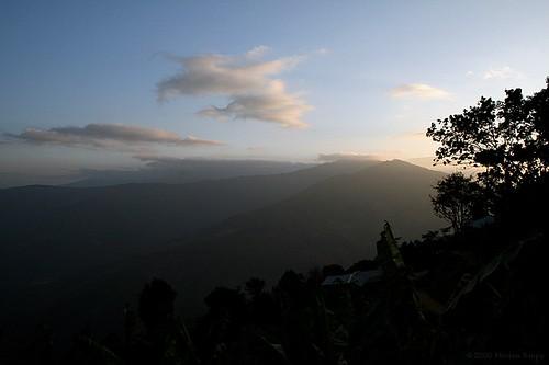 sunset cloud mountain tree nature asia southeastasia burma hill bluesky myanmar southeast birma chin mindat chinstate