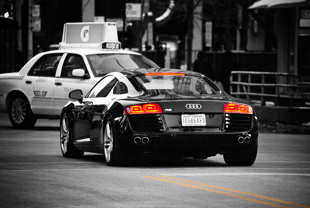 Audi R8 (B&W with recovered color)