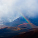 Rainbow Over Haleakala Crater, Maui by LivingWilderness.com
