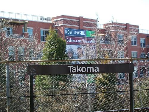 Apartments abutting the Takoma Metro Station