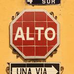 Alto Street Sign - Antigua, Guatemala