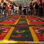 Admiring the Alfombra, Semana Santa - Antigua, Guatemala