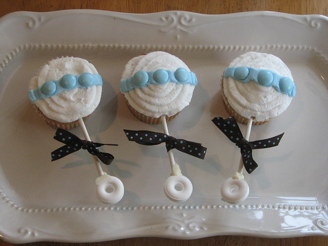 Baby Rattle Cupcakes | Flickr - Photo Sharing!
