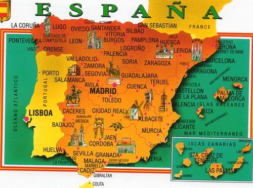 Lugares tur sticos de espa a mapa for Destinos turisticos espana