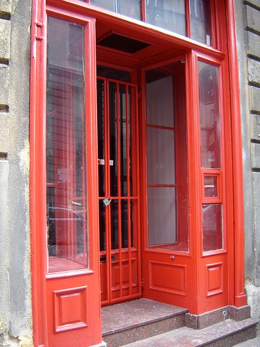 red doors in Zagreb