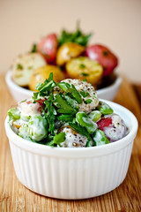Potato Salad with Fava Beans