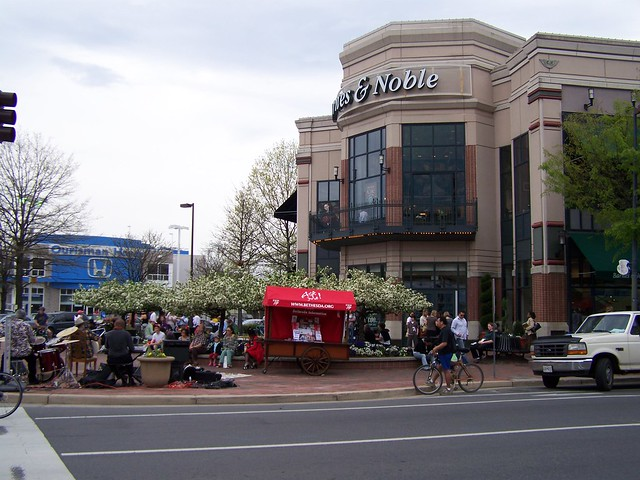 Barnes and Noble patio, Bethesda Row